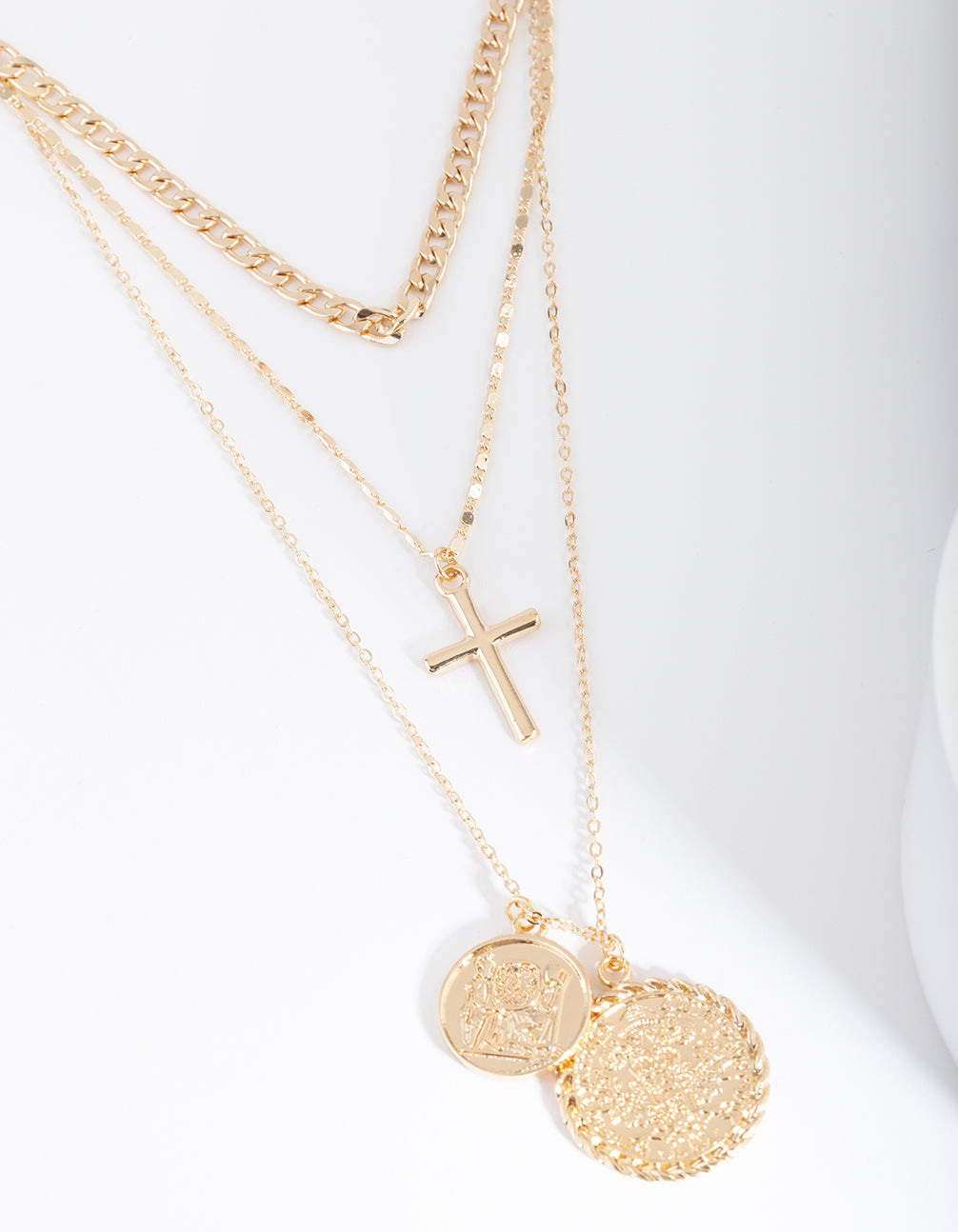 Gold Multi Charm Layered Necklace