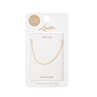 Gold Plated Sterling Silver Twist Chain Necklace - link has visual effect only