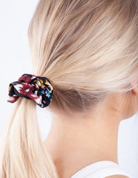 Satin Mixed Floral Scrunchie 3 Pack - link has visual effect only