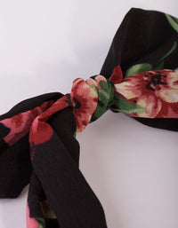 Red Floral Bow Headband - link has visual effect only