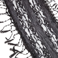 Black Lace Tassel Scarf - link has visual effect only