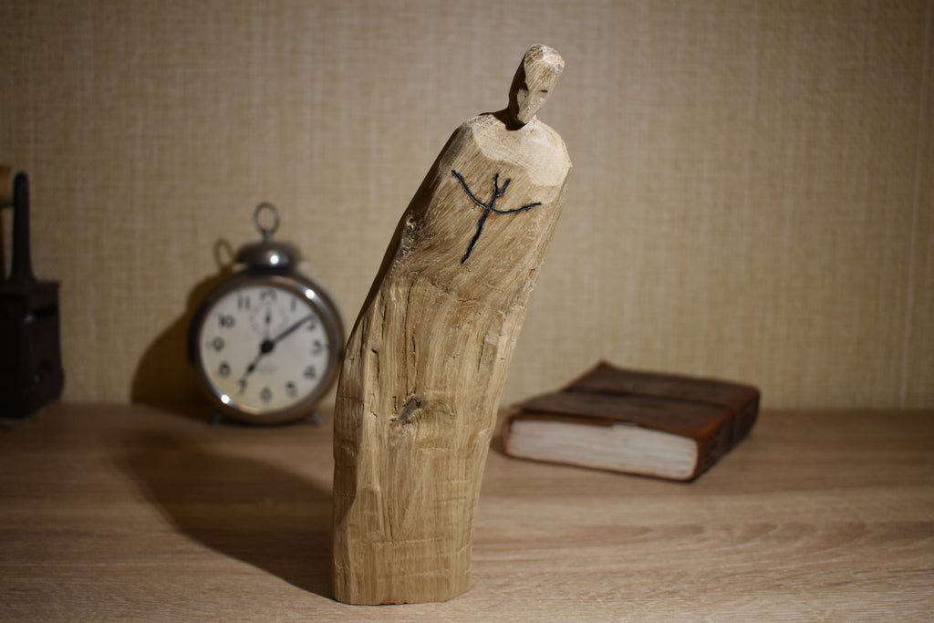 Art Doll Idol of Psi ( Ψ ) Wooden Goddess