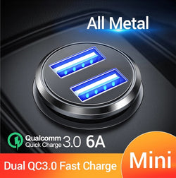 Mini Dual USB Car Lighter Charger®