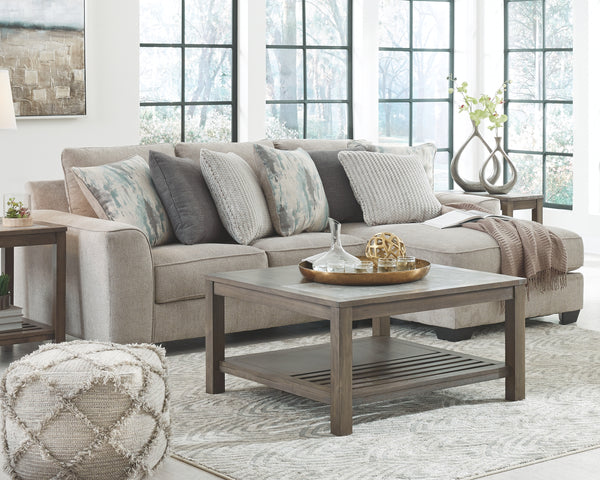 Ardsley Pewter 2-Piece Sectional with Chaise