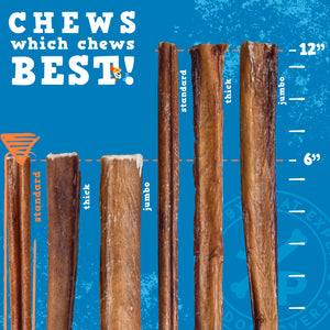 "Odor Free Bully Sticks - 6"" Standard"
