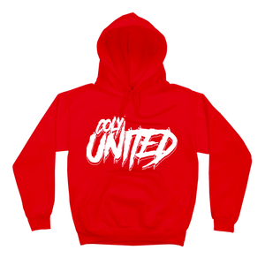 COLY UNITED HOODIE - RED/WHITE