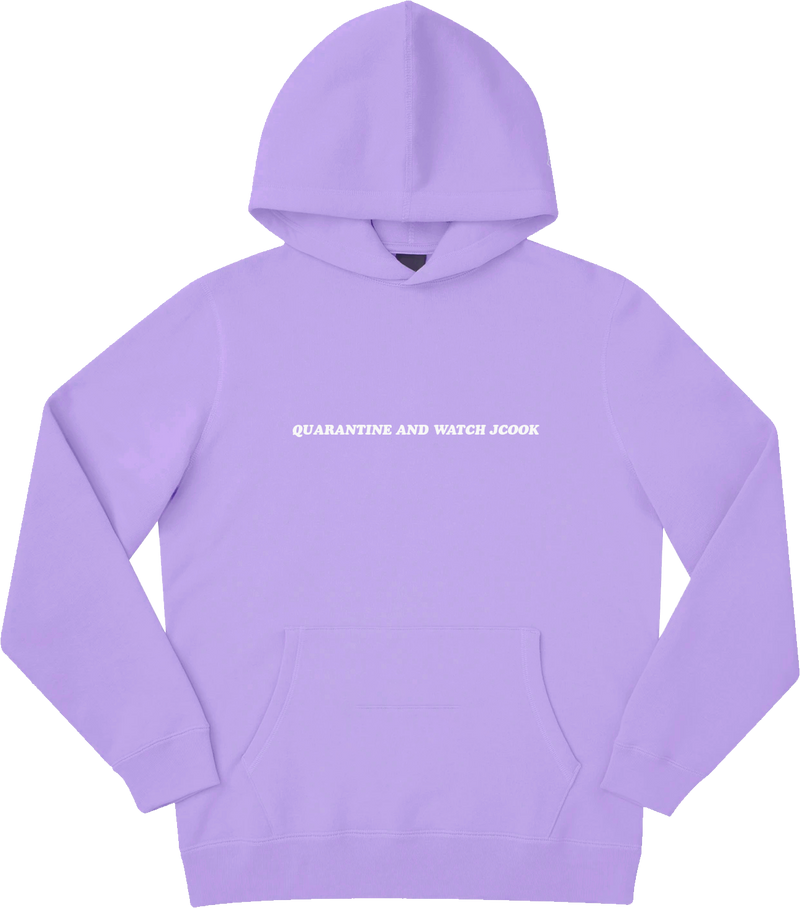 Quarantine and Watch J Cook Hoodie - Lavender