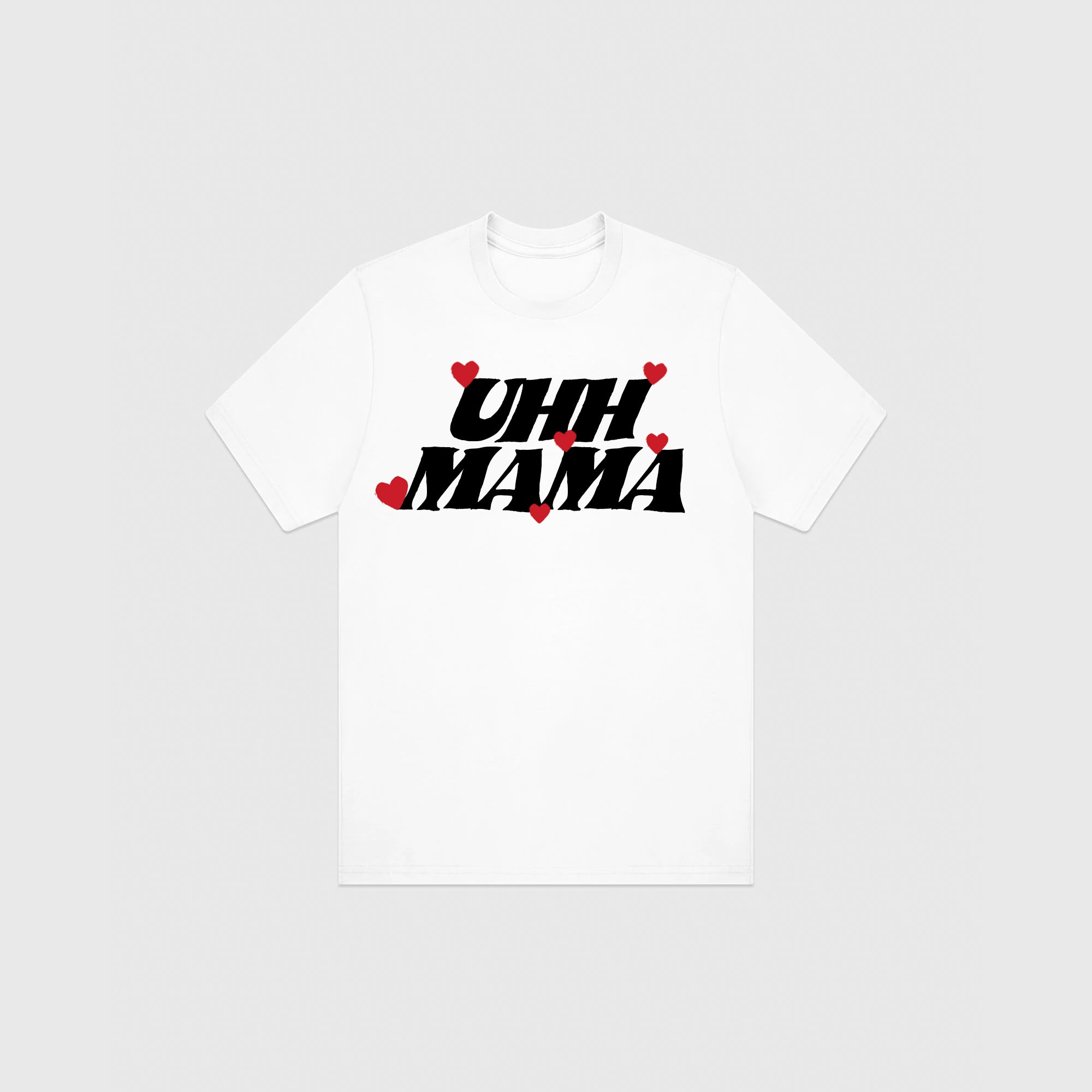 UHH MAMA T-SHIRT - WHITE/BLACK