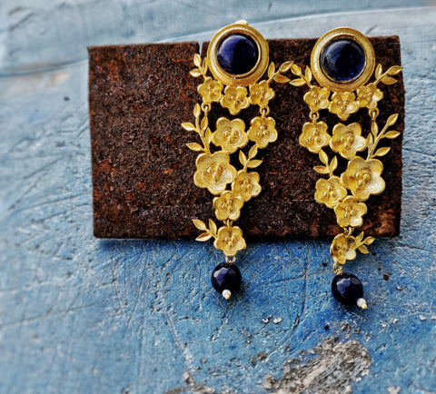 Gold Plated All The Bloom Dangler Earring