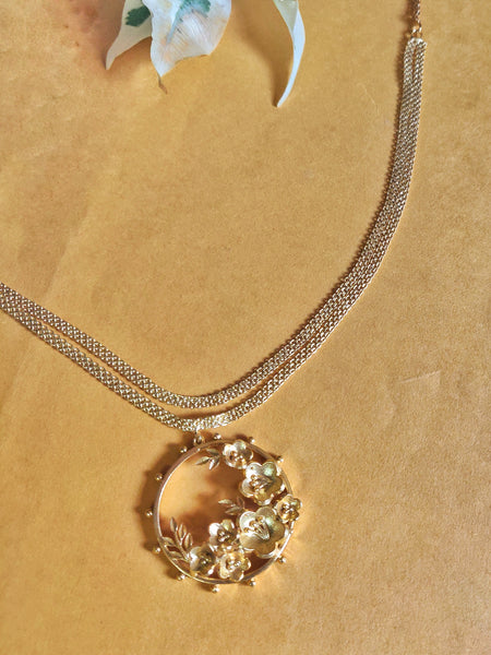 Gold Plated Floral Pahi Choker Necklace
