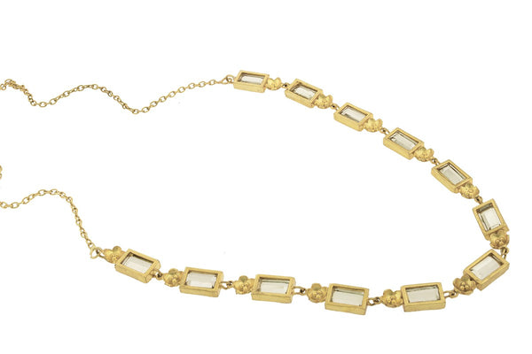 Gold Plated Floral Radiance Necklace