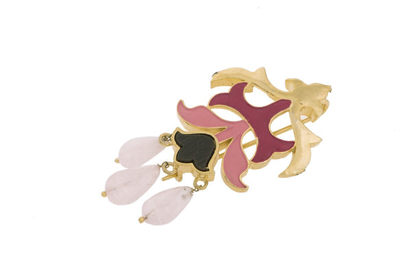 Gold Plated Jewels of Jaipur Brooch pin