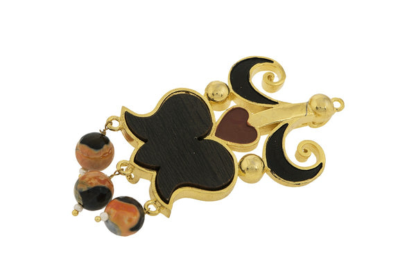 Kamal in Onyx Brooch