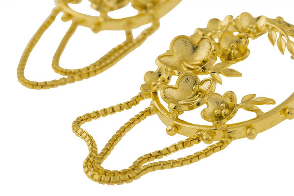 Gold Plated Floral Masaya Earring