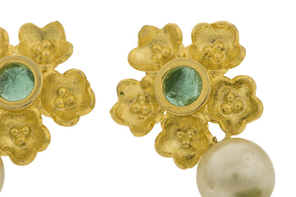 Poppy Green Stud Earrings