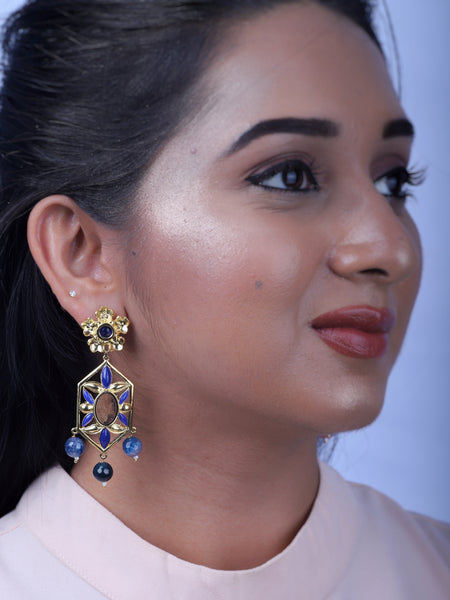Gulmohar Dangler Earrings