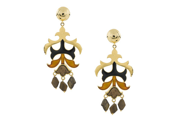 Kalidar Earrings- Tiger Eye