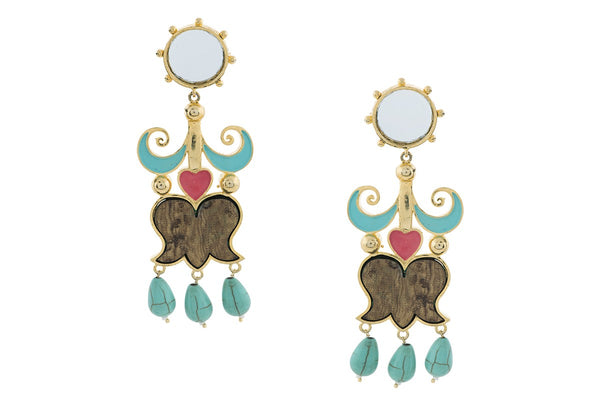 Kamdani Kanch Dangler Earrings