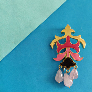 Jewels of Jaipur Brooch