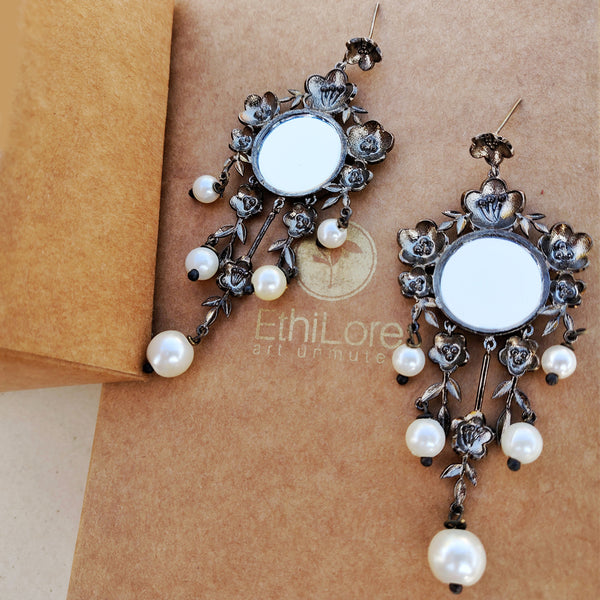 Aboli Earrings- Dark Finish