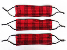 Load image into Gallery viewer, Cotton Mask - Red Plaid