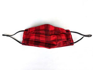 Cotton Mask - Red Plaid
