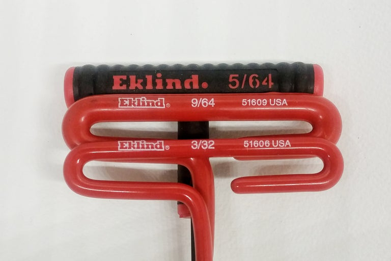 Eklind Brand hex/allen wrenches for servicing tattoo machines.