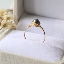 Load image into Gallery viewer, 5MM Black Pearl Ring