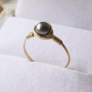 5MM Black Pearl Ring