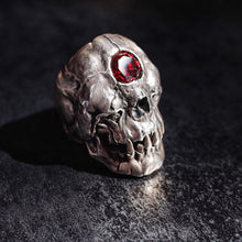 Load image into Gallery viewer, Cyclops Red Skull Ring