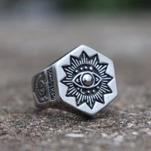 Load image into Gallery viewer, Basic Masonic Stainless Ring