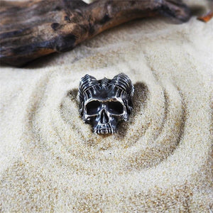 Horns Satan Demon Skull Ring