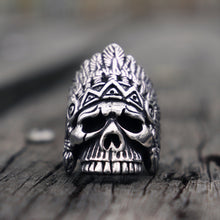 Load image into Gallery viewer, Navajo Chief Skull Ring