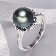 Load image into Gallery viewer, 10-11mm Natural Black Pearl Ring