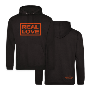 REAL LOVE BOX LOGO - Hoody (Black w/Orange)