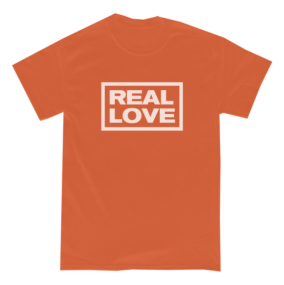 REAL LOVE BOX LOGO - T-Shirt (Orange)