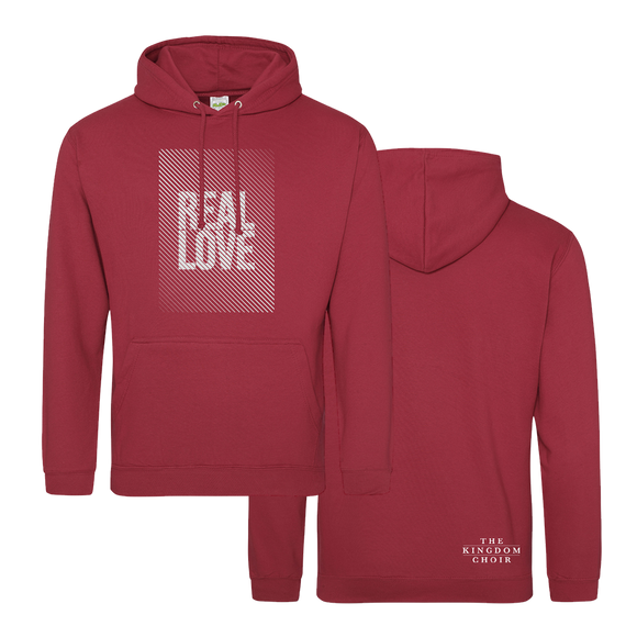 REAL LOVE - Hoody (Brick Red w/White)