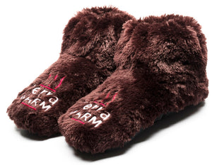 Warming Slippers - Microwave Toes and Feet Warmers Cordless (Cozy Toasty Warming Socks) - Improved Circulation, Relaxation, Heat, Massaging, and Raynauds Cold Foot Relief