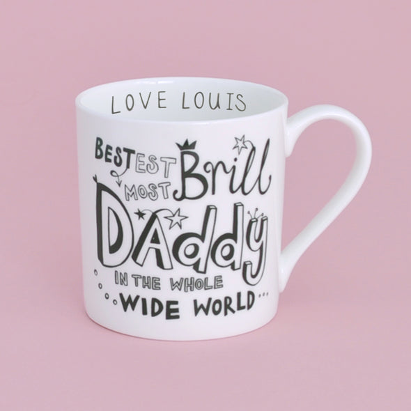 B&W Personalised Daddy Mug