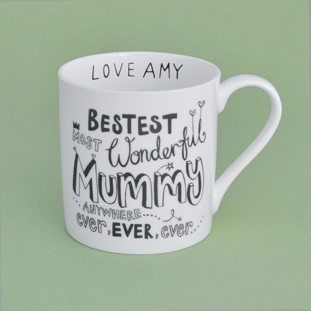 B&W Personalised Mummy Mug