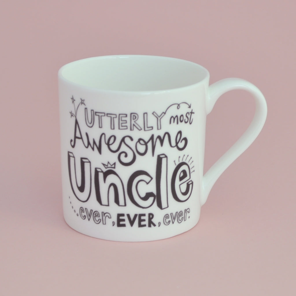 B&W Personalised Uncle Mug