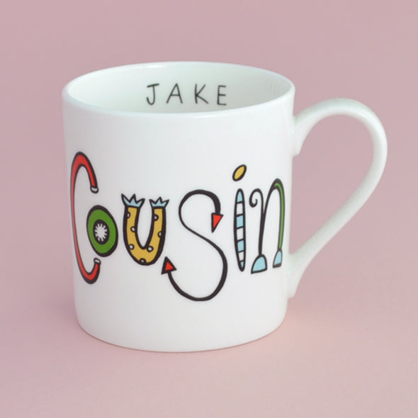 Personalised Cousin Mug