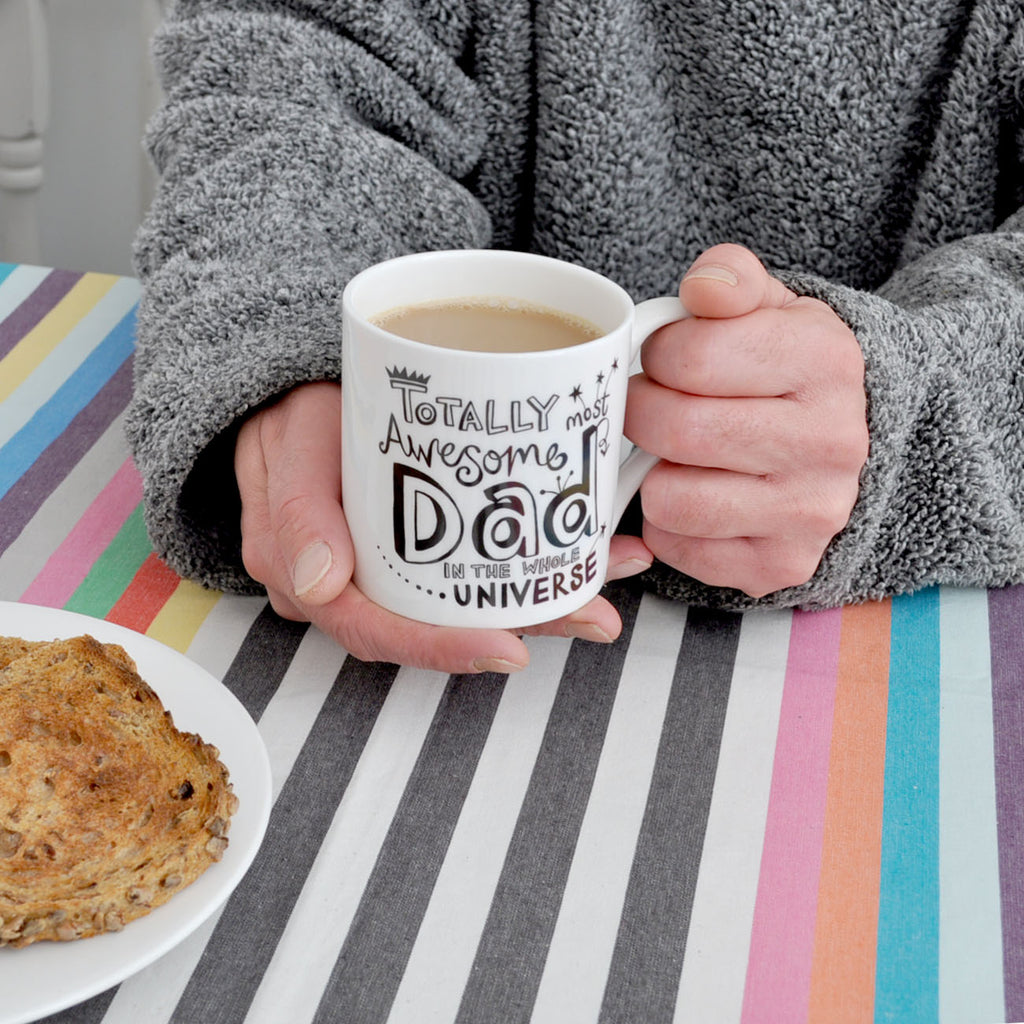 B&W Personalised Dad Mug