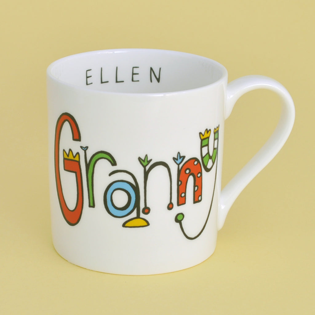 personalised granny china mug