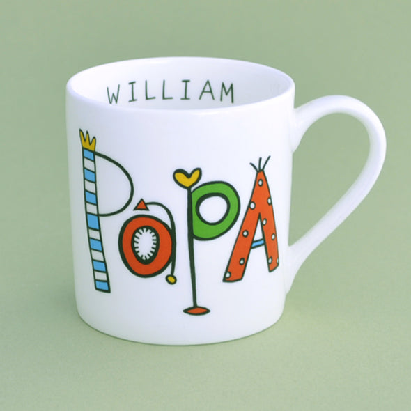 personalised papa china mug