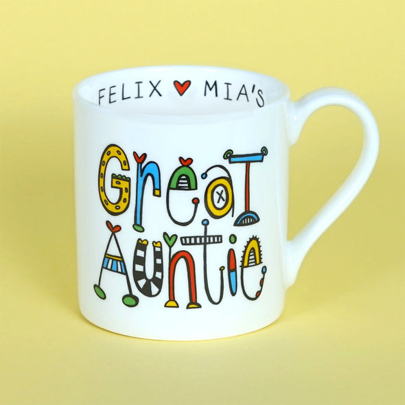 Personalised Great Aunty Mug