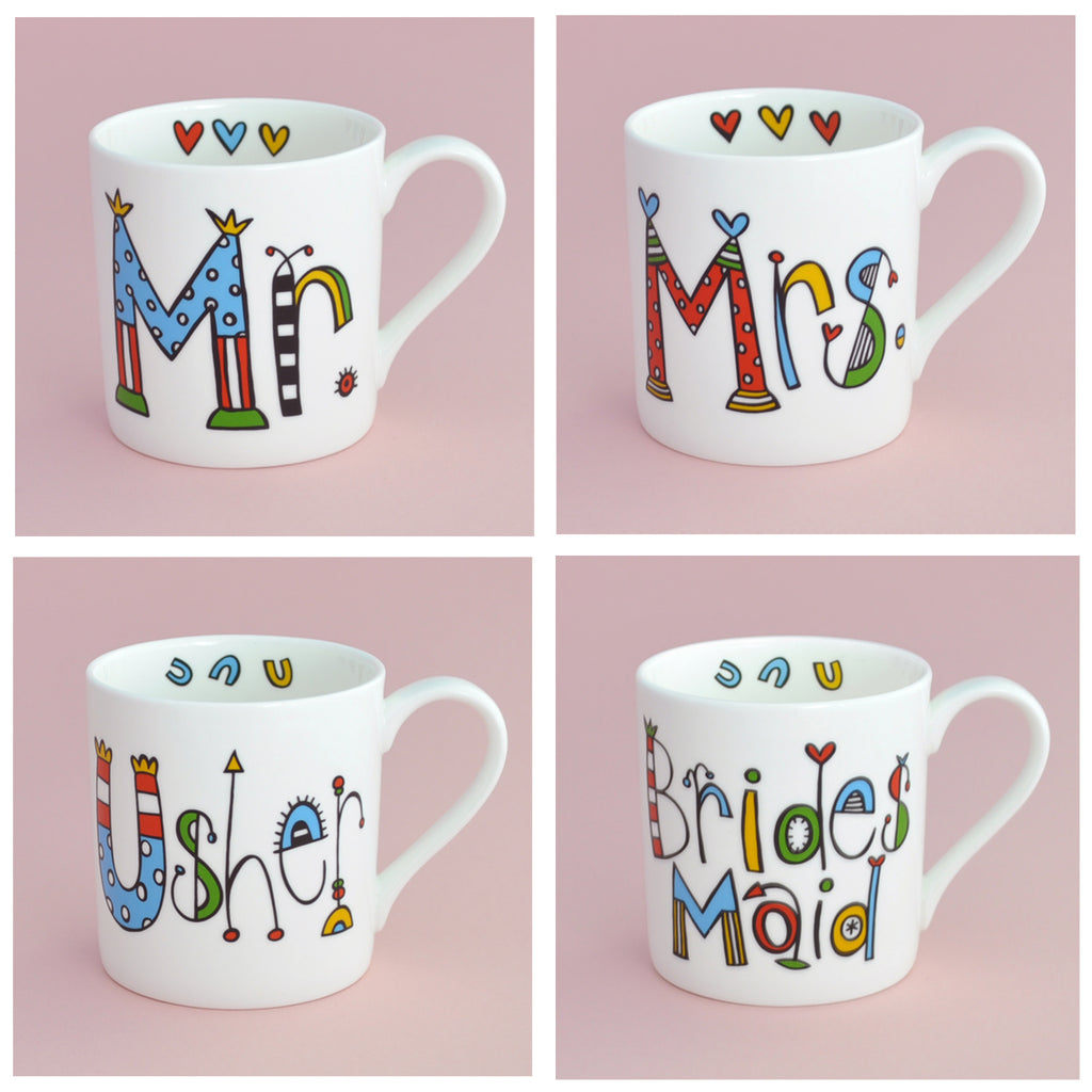 Personalised Mrs Wedding Mug