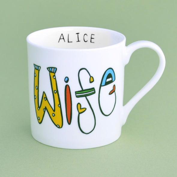 Personalised Wife Mug