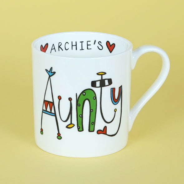 Personalised Aunty Mug