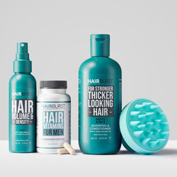 Men's Vitamins, 2-in-1, Density Spray & Scalp Brush Bundle
